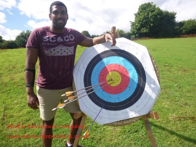 Archer with all arrows in the bullseye