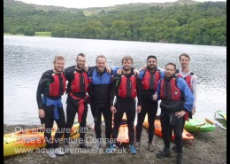 kayakers on WildCat Island, Coniston Water