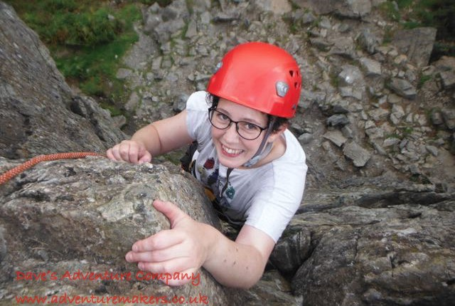 First time Female Learn to climb Rock