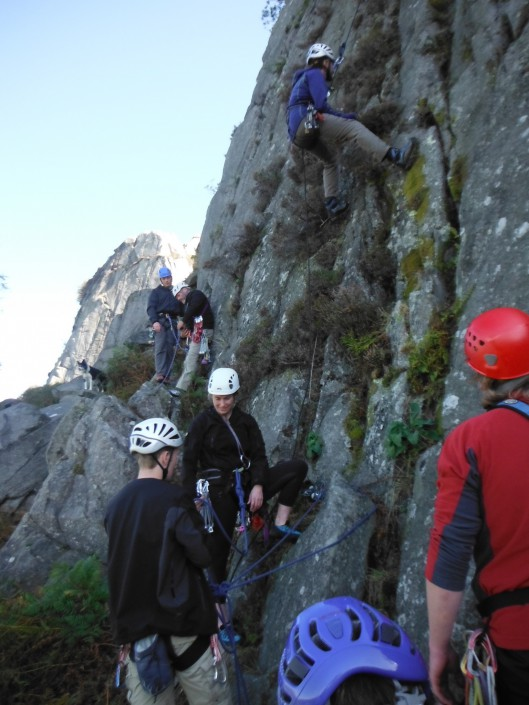 Trainees on Dave's fast track outdoor instructor training program